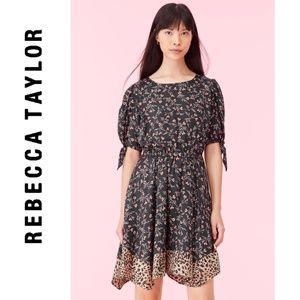 REBECCA TAYLOR LIA FLORAL SILK TWILL DRESS *NWT*